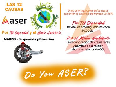 12 causas ASER suspensión y dirección