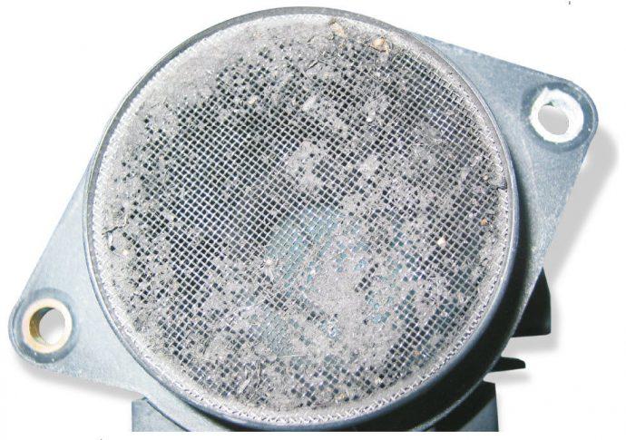 sensor de masa de aire obstruido