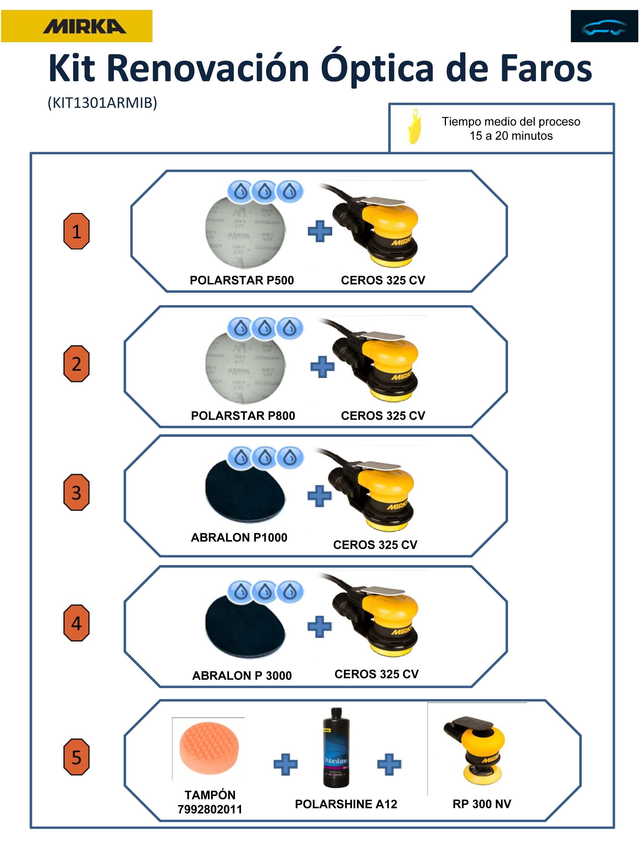 Kit de renovaci n ptica de faros motor ok - Kit de pulido de faros ...