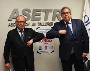acuerdo Asetra y Natram representación y defensa intereses de talleres de automoción en Comunidad de Madrid