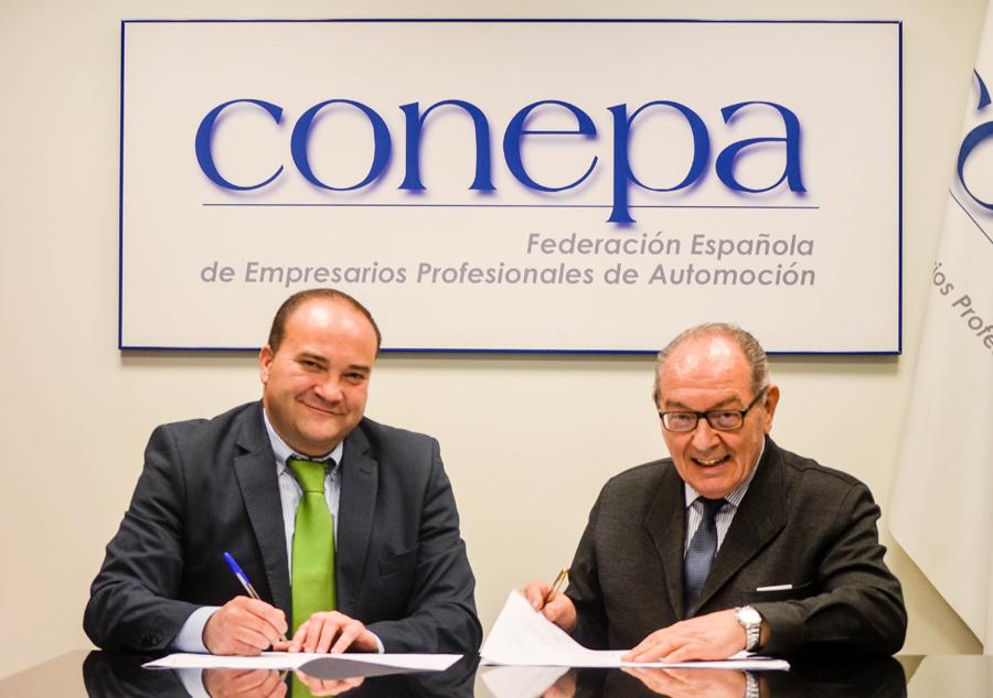 acuerdo de colaboración CONEPA y Angerea gestión de residuos
