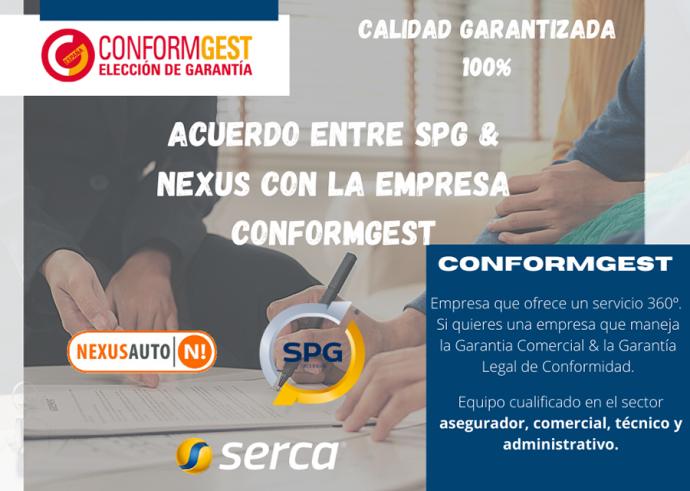 acuerdo redes talleres SPG y Nexus Auto con ConformGest