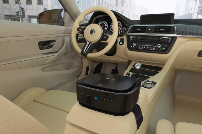 acuerdo taxis de Madrid SCAT y Lumileds para uso del purificador de aire Philips Go Pure 6201