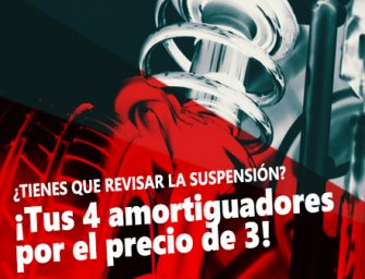 Reparatucoche.com lanza su promoción Black Friday con un 4×3 en amortiguadores