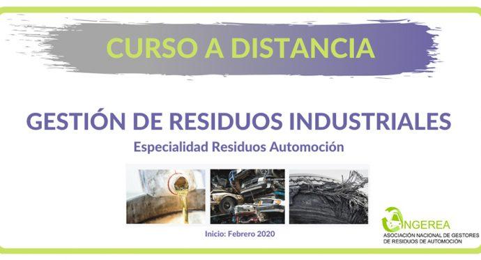 Angerea curso 2020 sobre gestión de residuos de automoción e industriales