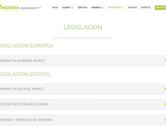 La asociación sectorial Angerea estrena nueva página web
