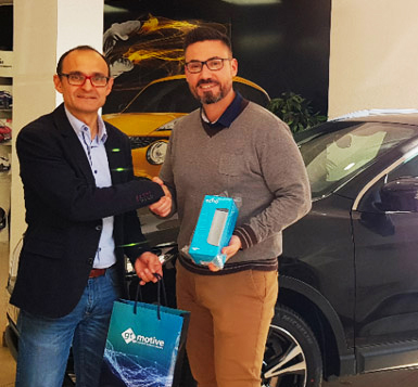 Antonio Matarranz tercer premio concurso Motortec 2019