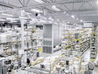 Los armarios verticales LOGIMAT ya mejoran el picking de Tools Finland Oy