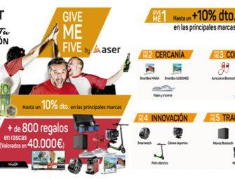 """ASER se reinventa con su nueva campaña promocional """"Give Me Five"""""""