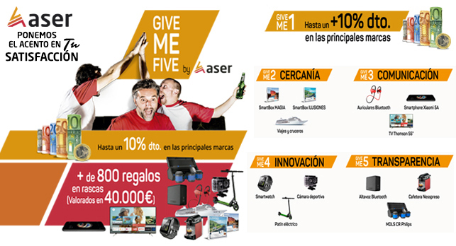 ASER campaña Give Me Five