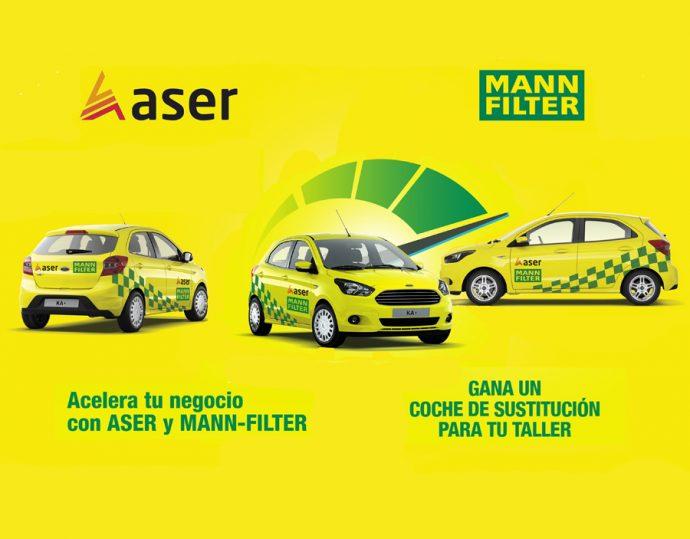 ASER y MANN+HUMMEL campaña vehículo de sustitución