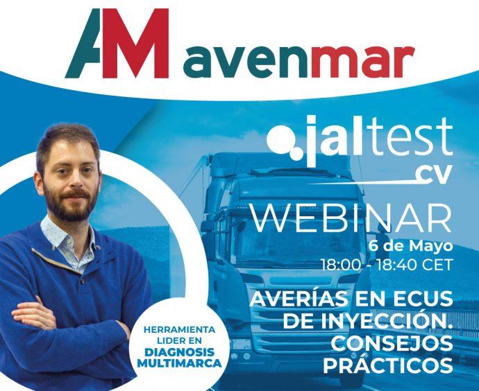 Avenmar y Jaltest webinar gratuito mayo 2021 sobre averías en ECUs de inyección en vehículos industriales