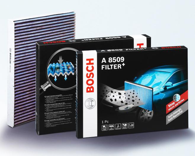 Bosch lanza nuevos filtros de habitáculo y unidades ACS