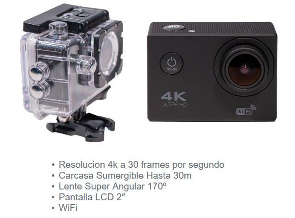 cámara deportiva 4K de Orio
