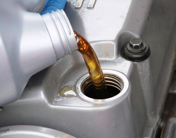 cambio del aceite de motor