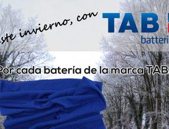 TAB Spain regala una braga de cuello en su campaña de invierno