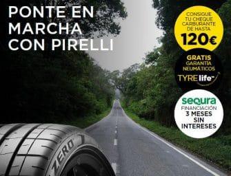 """Recta final de la promoción """"Ponte en marcha con Pirelli"""" de Driver Center"""