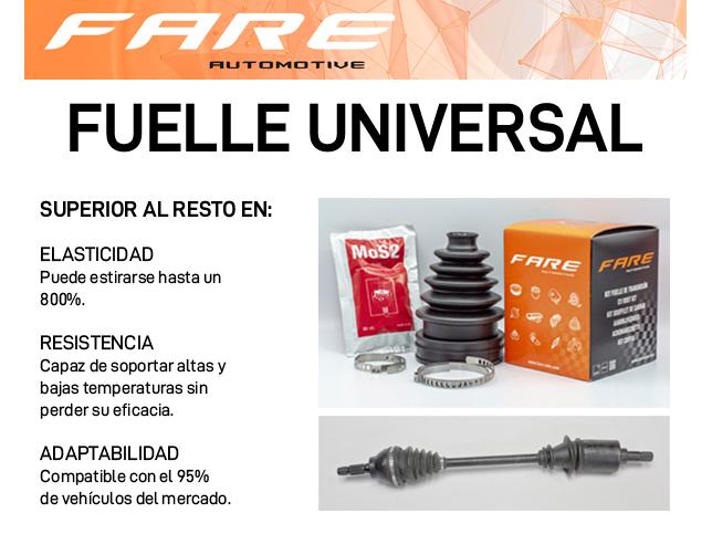 características de las fuelles universales para automóvil de FARE SA