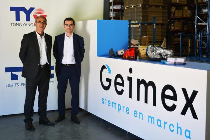 Celestino Sola y Angelo Pepe, de Geimex
