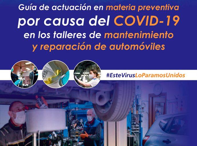 CETRAA y CONEPA guía actuación preventiva talleres automoción