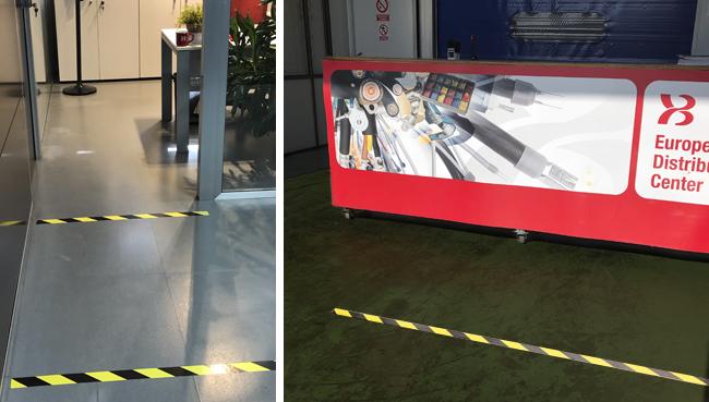 cintas de señalización para suelos y espacios XB Components