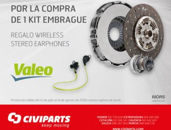 Civiparts premia la compra de kits de embrague con auriculares wireless