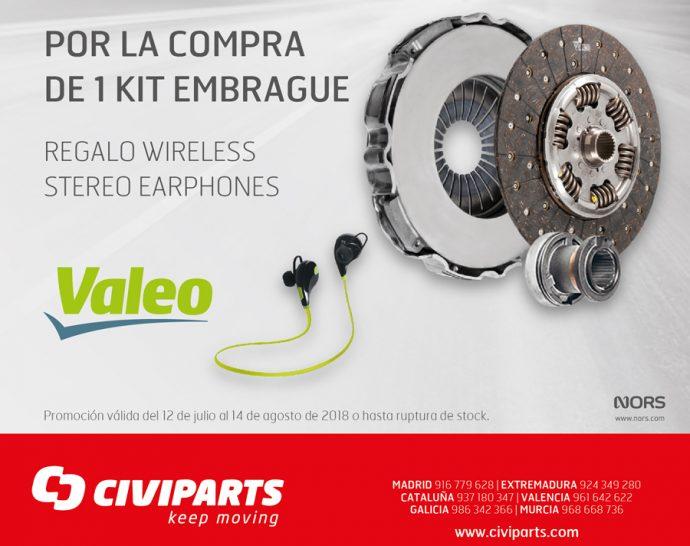 Civiparts campaña kits de embrague Valeo