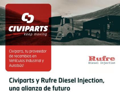 Civiparts nuevo distribuidor de Rufre Diesel Injection