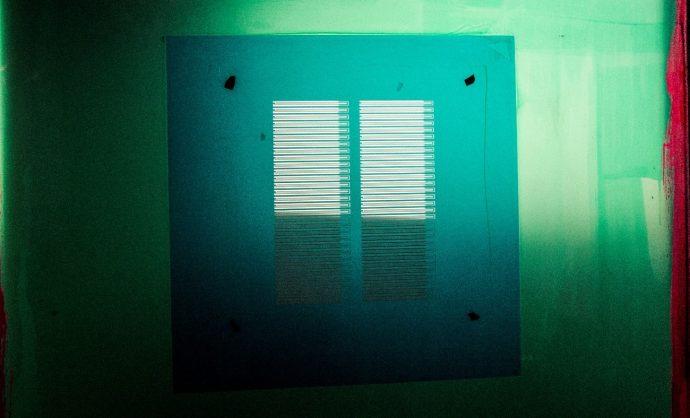 Cliché específico para el serigrafiado de un heater (calefactor)