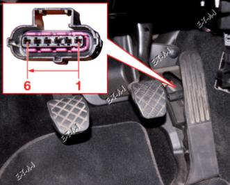 conexionado sensor del pedal acelerador