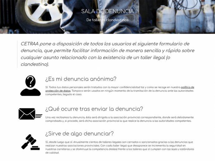 confederación de talleres CETRAA renueva su Sala de Denuncia de talleres ilegales