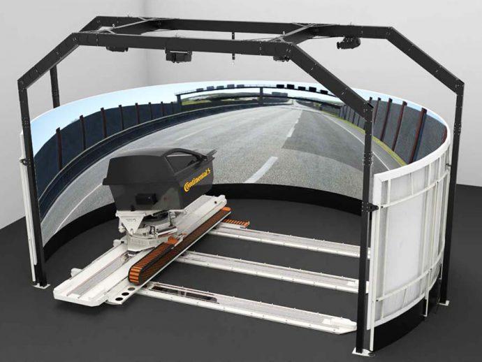 Continental desarrollo simulador de conducción dinámica de última generación para neumáticos