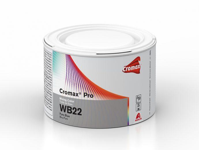 Cromax Pro nuevo tinte base agua Pure Blue WB22