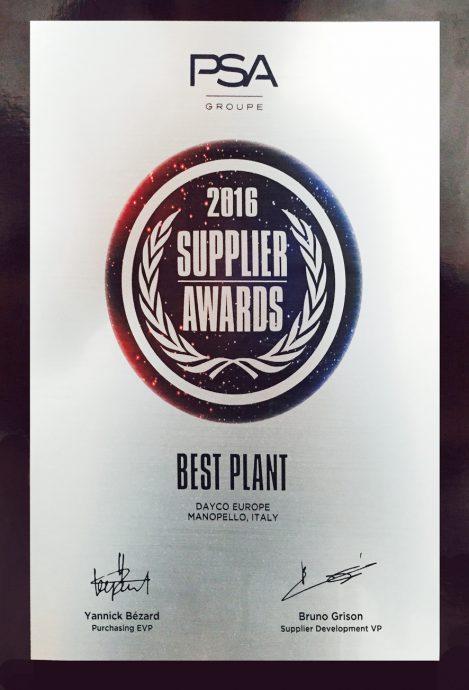 dayco PSA premi millor planta1