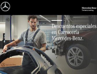 Mercedes-Benz ofrece importantes descuentos en piezas de carrocería