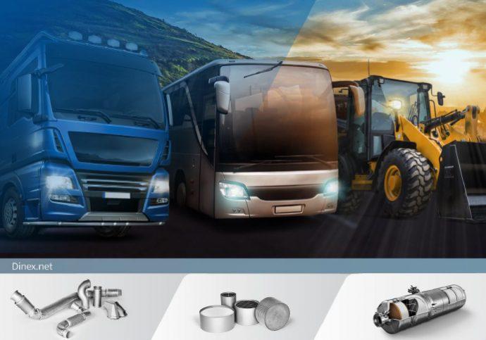 Dinex respuesta integral en sistemas de escape y emisiones para vehículo industrial