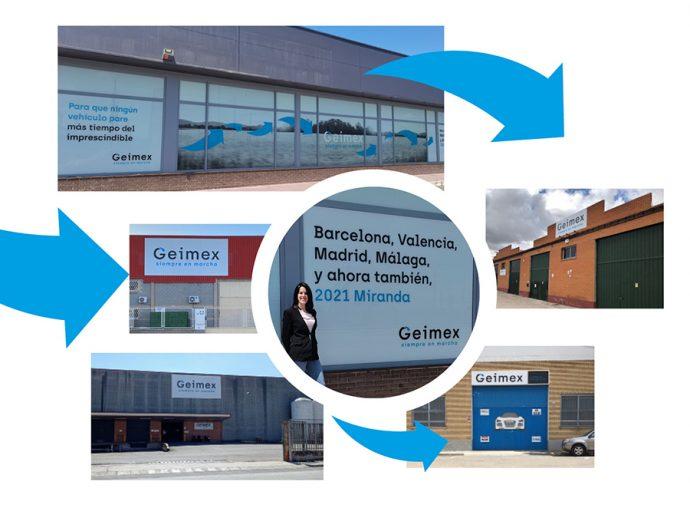 distribuidora de recambios de carrocería Geimex abre en Miranda de Ebro su quinta delegación