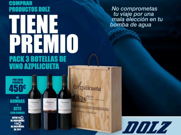 DOLZ campaña navidad botellas de vino
