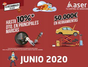 """ASER activa en junio su campaña de descuentos y regalos """"El Recambiazo"""""""