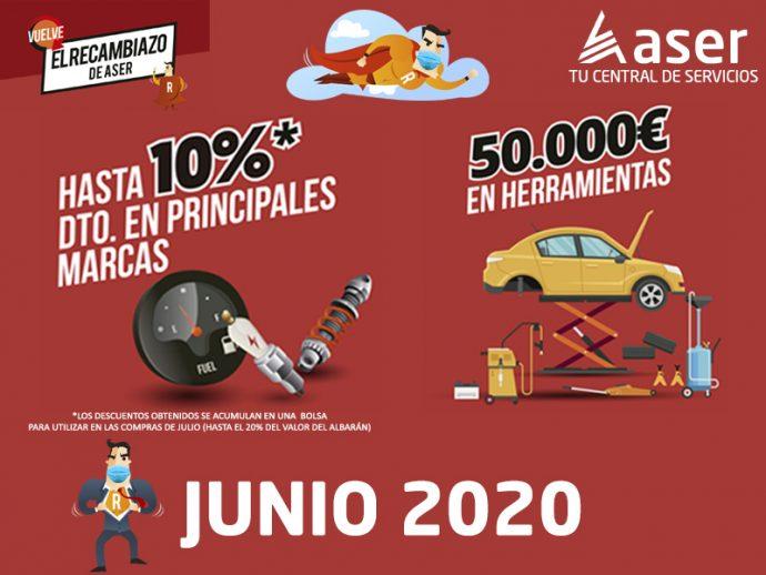 El Recambiazo de ASER junio 2020 campaña distribución recambios