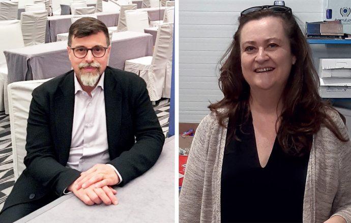 Elia Mazzocco y Laura San Cayo de Intragrup Transmisiones