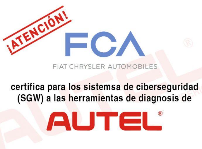equipos diagnosis Autel certificado FCA