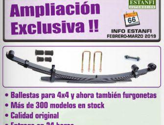 Estanfi lanza una ampliación de su catálogo de ballestas exclusiva para furgonetas
