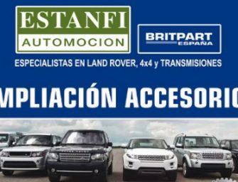 Estanfi actualiza su catálogo de recambios para Land Rover