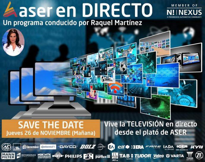 evento televisivo posventa de automoción ASER en Directo 2020