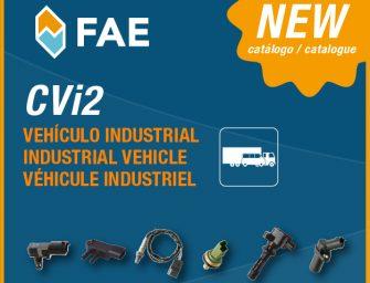 FAE presenta su nuevo catálogo CVi2 para vehículo industrial