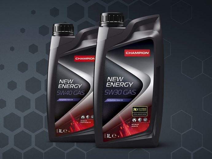 gama lubricantes Champion New Energy 5W30 GAS y 5W40 GAS para vehículos de gas GLP y GNC