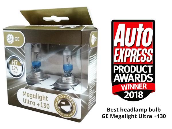 GE Megalight Ultra +130 mejor lámpara de faro 2018