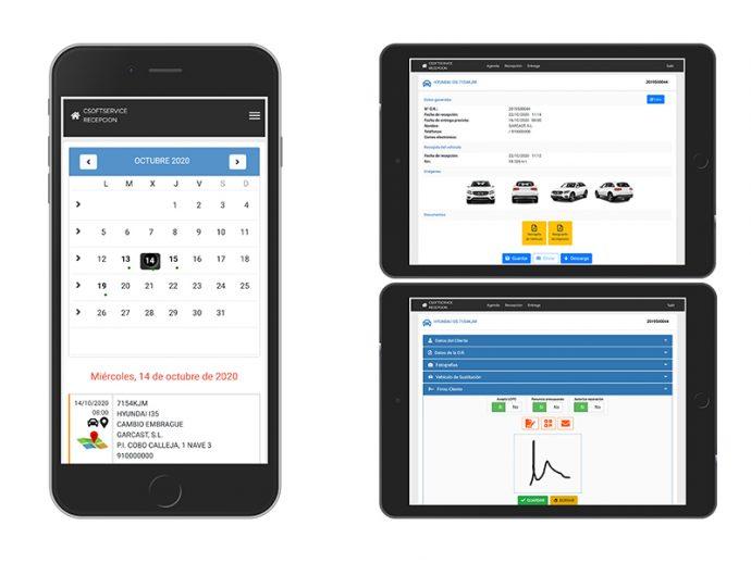 gestión de taller de automóviles con soluciones de Connection Soft Service