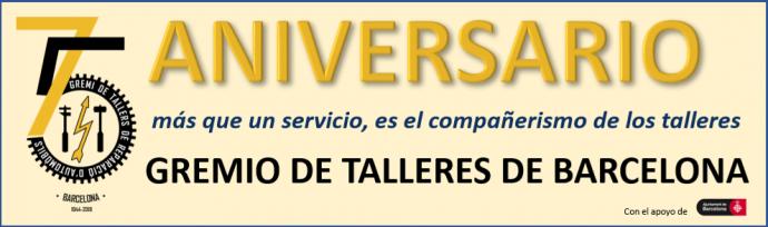Gremi de Tallers de Barcelona 75 Aniversario